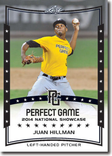 12 JUAN HILLMAN 2014 Leaf *PERFECT GAME*  Baseball Rookie RC LOT