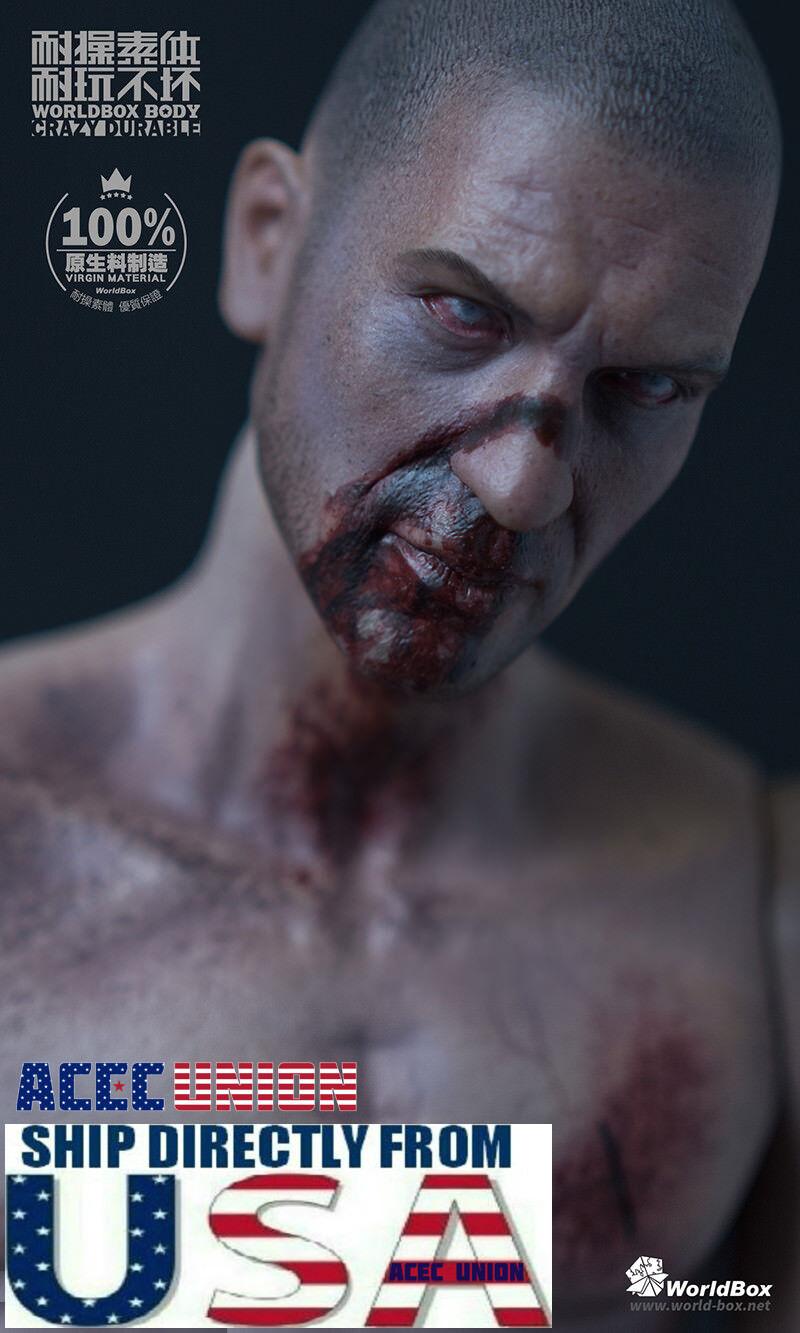 WorldBox 1/6 The Walking Dead Zombie Head Sculpt Durable Figure Set AT019 U.S.A.