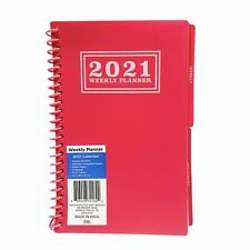 2021 Weekly Monthly Planner 5in X 79in Calendar Spiral Pink Tabbed Organizer