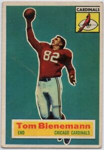 1956-Topps-10-SP-Rookie-Tom-Bienemann-VG-VGEX-Chicago-Cardinals-FREE-SHIPPING