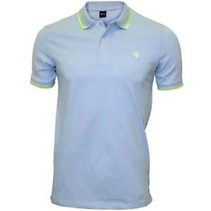Replay-Colour-Contrast-Men-039-s-Polo-Shirt-Light-Azure