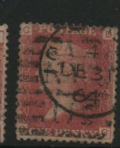GB-1858-79-Penny-Red-SG43-Plate-number-80-DG-good-used-stamp