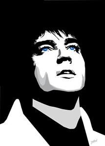 Elvis Presley - Devotion - Original (signed) art print - Jarod Art