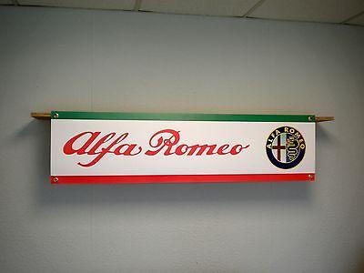 Alfa Romeo PVC Banner Garage Workshop Giulietta Mito Brera Sign