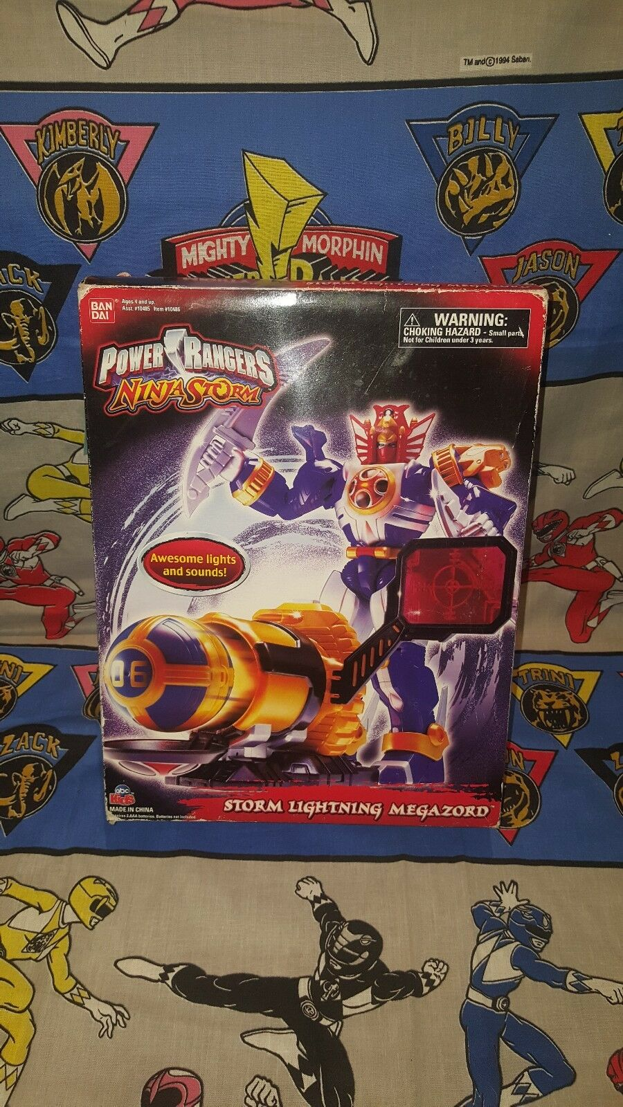 Power Rangers Ninja Storm STORM LIGHTING MEGAZORD New w Lights & Sounds  2003