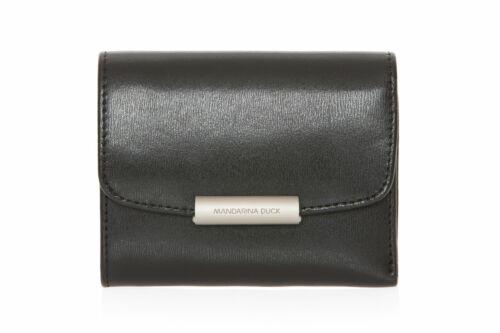 MANDARINA DUCK Hera 3.0 Wallet with Flap Geldbörse Black Schwarz Neu