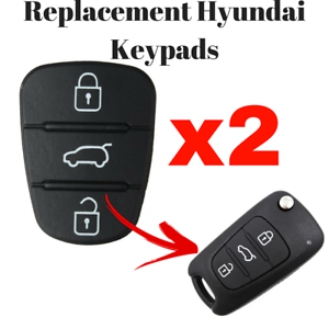 Details About Hyundai 3 Button Repair Pad I10 I20 I30 Accent Elantra Replacement Key Pad X 2