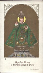 Prag-Jesus-Nino-Cuadro-Santos-Amria-Imagen-Milagrosa-Bohemia-Koloriert-B-6645