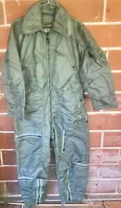 New-Vintage-COVERALL-Flying-USAF-John-Ownbey-CWU-1-P-Pilot-Flight-Suit-Med-Short