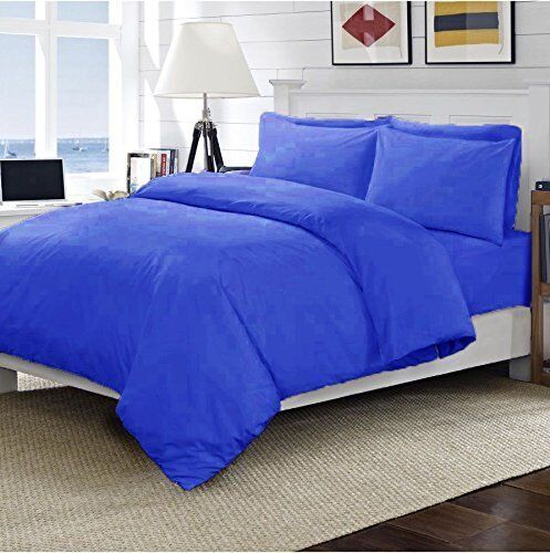 """200 TC 100/% Egyptian Cotton 40CM//16/"""" Extra Deep Fitted Sheet Matching Pillowcase"""