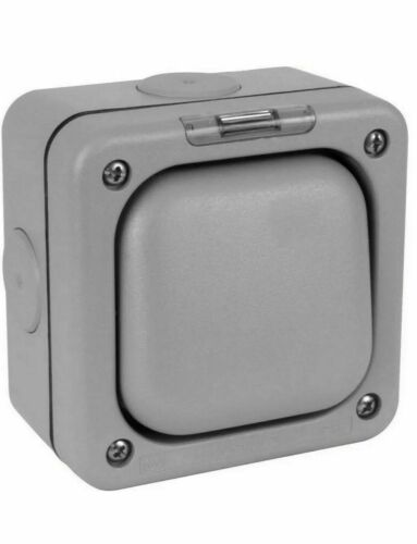 MK Electric Master Seal Switch K56401GRY 10 A 2 Way Weather Dust Proof IP66