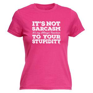 Strict Drôle Nouveauté Tops T-shirt Femme Tee Tshirt-ses Pas Sarcasme Ses Mon Allergique-afficher Le Titre D'origine