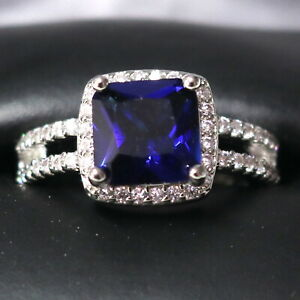 Sparkling-Princess-Blue-Sapphire-Ring-Women-Engagement-Jewelry-14K-White-Gold