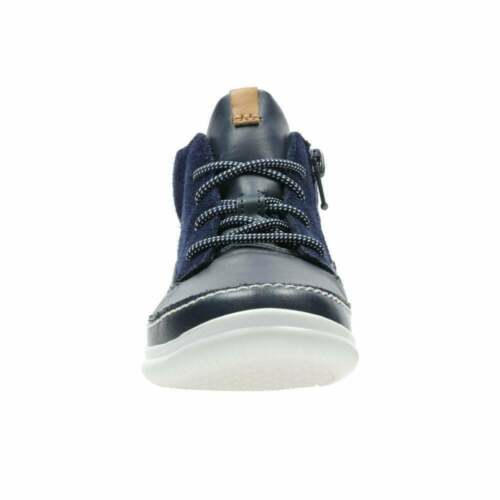 BOYS CLARKS CLOUD AIR K NAVY LACE UP BOOT