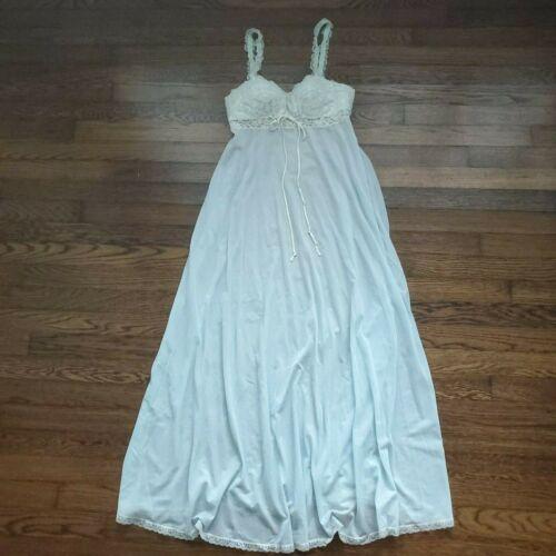 Vintage 2 Pc Bride Night Gown Slip Dress Lace Vict