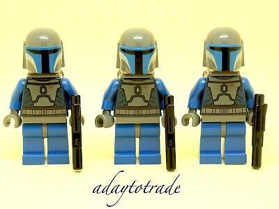 LEGO Mini figure star wars 3 x Mandalorien guerriers comme Jango Fett SW296 RBB