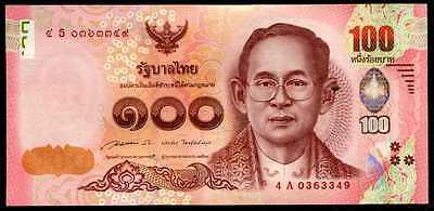 THAILAND 100 BAHT 2015 P 120 SIGN 85 SOMMAI PRASARN REPLACEMENT ZERO S 0S UNC