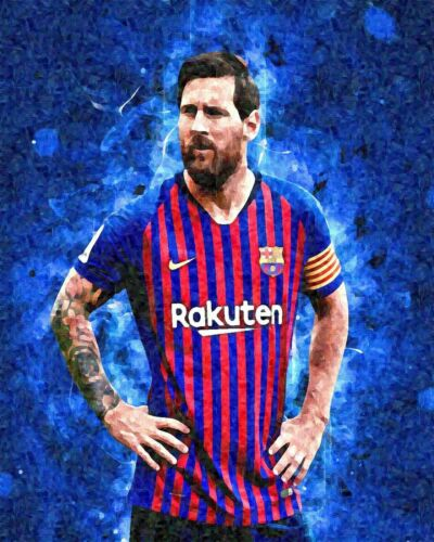 Lionel Messi Football Painting Art Artwork Paint By Numbers Kit DIY Decor