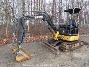 2006-John-Deere-27D-Hydraulic-Mini-Excavator-Hyd-Thumb-Manual-Q-C-2-Spd-bidadoo