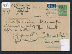 02989) Bahnpost Ovalstempel Hagen (westph) - Francfort Train 382, Ga 1949-afficher Le Titre D'origine Des Friandises AiméEs De Tous