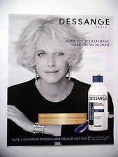 PUBLICITE-ADVERTISING :  DESSANGE Shampooing Déjaunisseur  2016 Coiffure