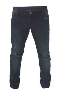 Pantaloni-moto-Uomo-Jeans-Denim-Blu-Protezioni-Omologate-in-ITALIA-Aramide