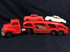 Hubley Plastic Toy Truck Car Transport Vintage Kiddie 1950's