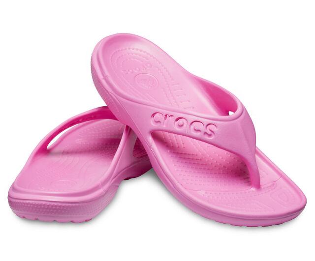 best service 4a72c d680e CROCS Baya Flip 111999-6U9 sz 7 8 9 10 Party Pink