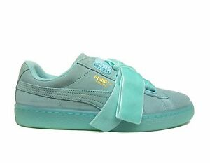Desanimarse variable Ninguna  PUMA Women's SUEDE HEART RESET Shoes Aruba Blue 363229-01 b Size 8.5   eBay
