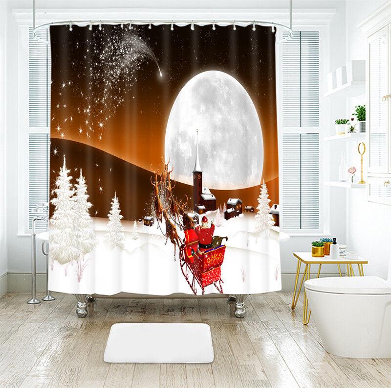 3D Weihnachten Xmas 180 Duschvorhang Wasserdicht Faser Bad Daheim Daheim Daheim Windows DE | Schönes Design  940293
