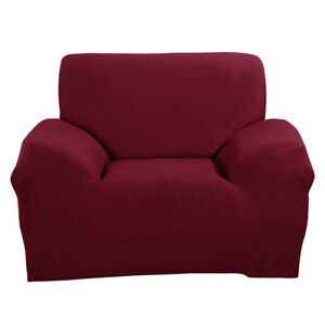 Fine Details About Wine Red Single Seat Sofa Cover Loveseat Chair Arm Couch Cover Us Fast Delivery Machost Co Dining Chair Design Ideas Machostcouk