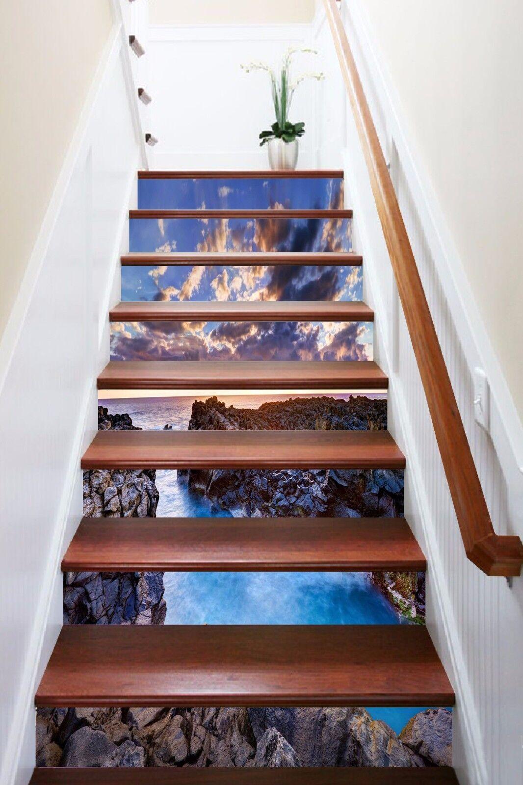 3D Coast View 776 Stair Risers Decoration Photo Mural Vinyl Decal Wallpaper AU