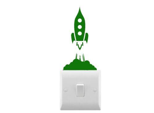 Nouveauté roquettes Petit Interrupteur De Lumière Autocollant-Plusieurs couleurs disponibles