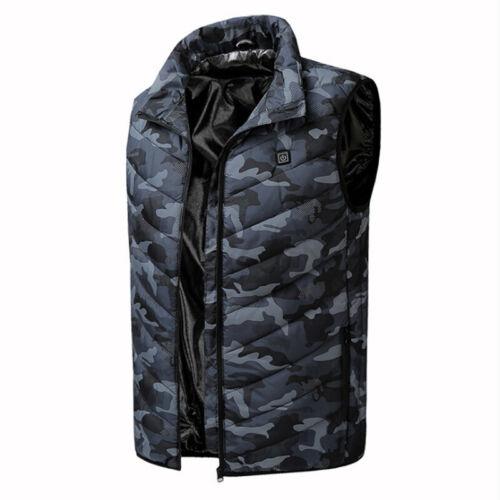 Jacket Coat Vest Outerwear Overcoat Parka Puffer Zipper Heated Electric