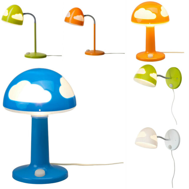 Ikea SKOJIG Table/Wall/Work Lamps - Fluorescent Switch (BULBS INCLUDED)