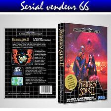 "BOX, CASE ""PHANTASY STAR 2"". MEGADRIVE. BOX + COVER PRINTED. NO GAME. ENGLISH."