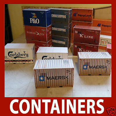 45 48 & 53ft Best Buy X 8 Ingenious Oo Scale Model Shipping Container Card Kits 20 40