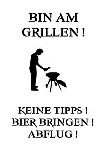 """Schablone /"""" Bin am grillen1 /"""" auf A4"""