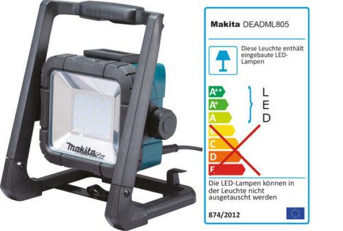 Makita Baustrahler DEADML805 14,4-18V und 230V Arbeitsleuchte Bauleuchte AKTION