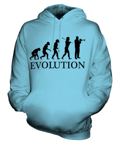 TRUMPET PLAYER EVOLUTION OF MAN UNISEX HOODIE MENS WOMENS LADIES GIFT MUSICIAN