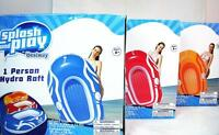 3-pack Of 1 Person Hydro Rafts W/oarlock Inflatable Water Pool Float Quality