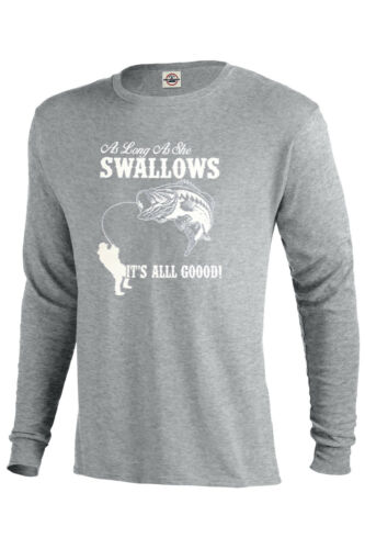 FISHING LONG SLEEVE TEE FISH WORM FUNNY BOAT GIFT FLAG FATHERS LURE ADULT S-5XL