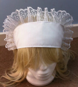 fits-child-adult-victorian-edwardian-fancy-dress-white-band-hat-sissy-maid-alice