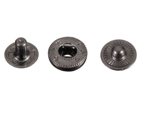 para carteras chaquetas 15mm prensa postes 4 Piezas S Primavera Snap Sujetadores 10//50//100 un