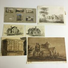 Collection Architectural Watercolour's & Sketches Attributed Matthew Digby Wyatt