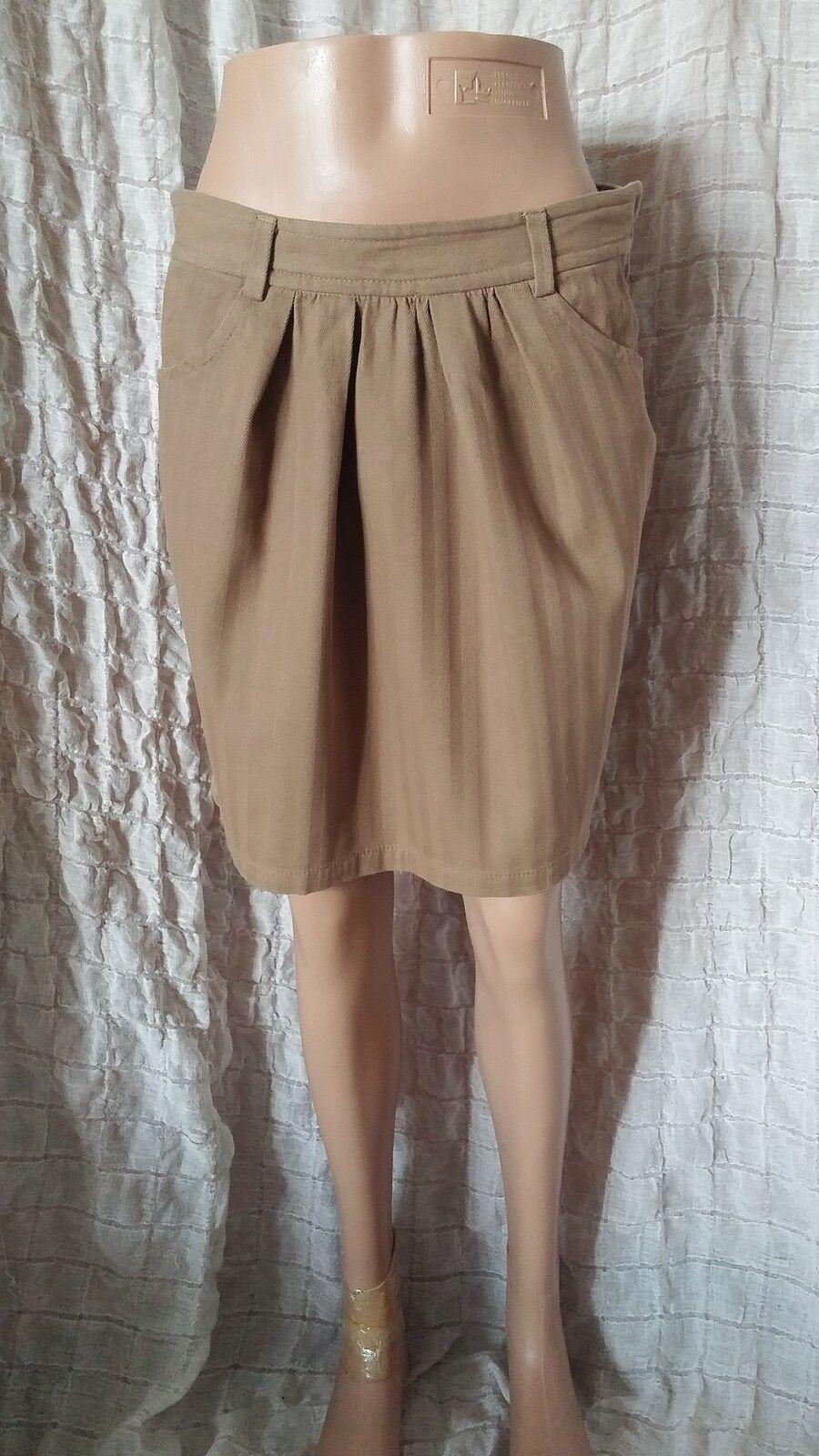 Isabel Marant Etoile textured  brown khaki tulip mini skirt size 1