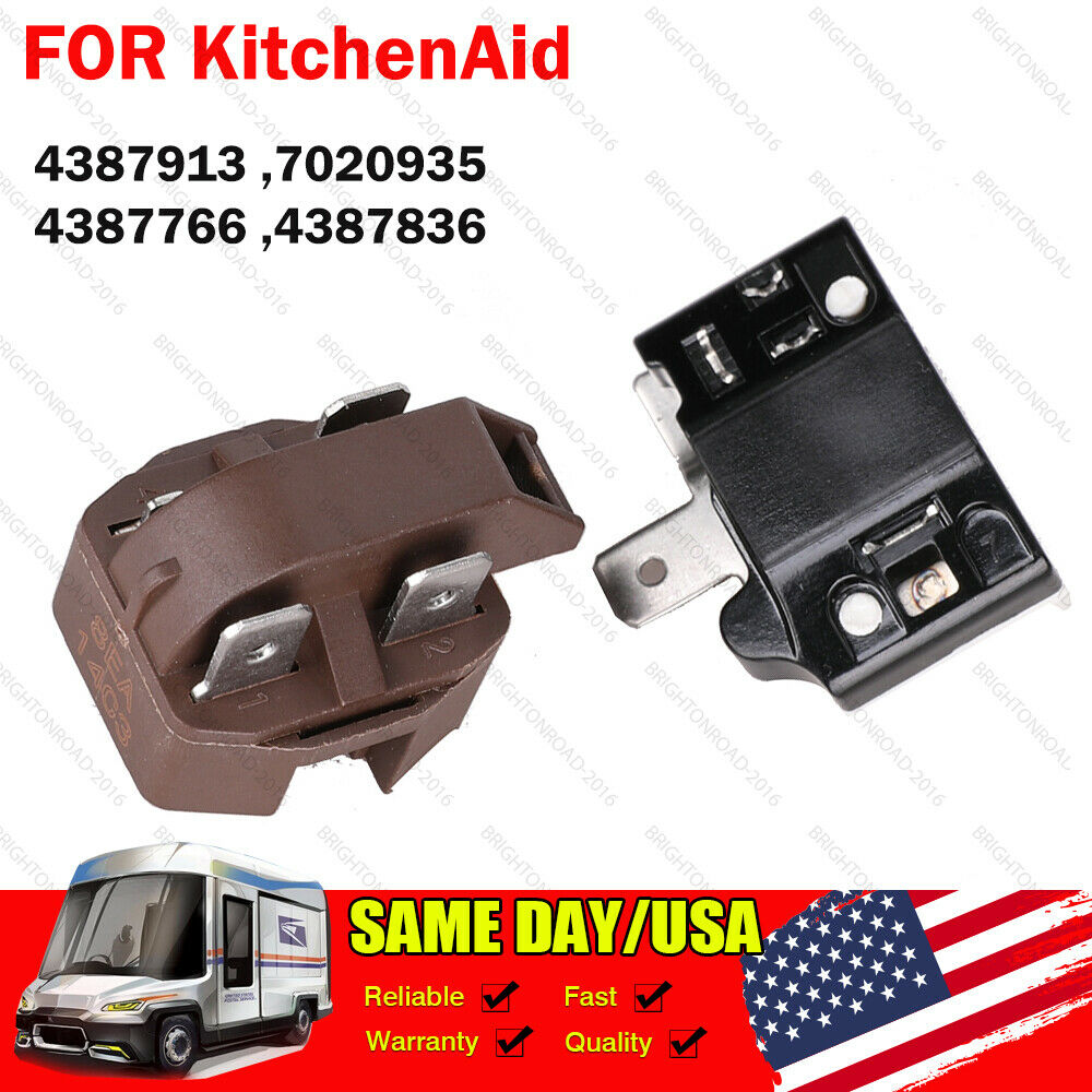 4387913 Refrigerator Compressor Relay and Overload Kit FOR KitchenAid 7020935