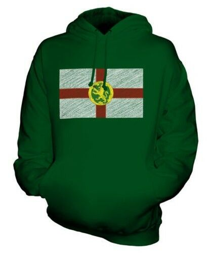 Alderney Scribble Flag Unisex Kapuzenpulli Top Geschenk Fußball