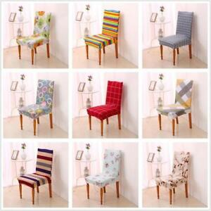 Removable Protector Stretch Dining Room Chair Covers Slip Cover 9