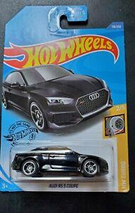 118//250 OVP  Brandneu Schwarz Hot Wheels 2020 Audi RS 5 Coupe #HW Turbo 2//5